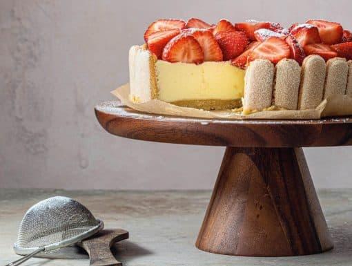 Mascaponetaart met aardbeien uit het kookboek van Jeroen Meus