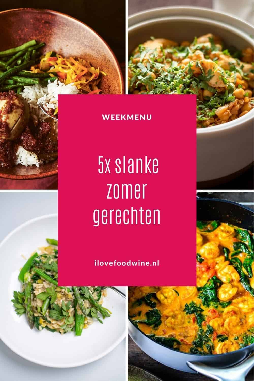 Slank, gezond en makkelijk, maar bovenal héél lekker; dat zijn deze 5 slanke gerechten voor de zomer. Alles onder de 500 calorieën. Voor ieder wat wils, vegetarisch, vis en vlees. Maar altijd met veel groenten.#slank #calorie-arm #gezond #afvallen #gewichtverlies #corona