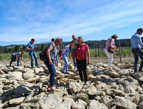 Claudia op wijnreis in Spanje bij Raventos I Blanc