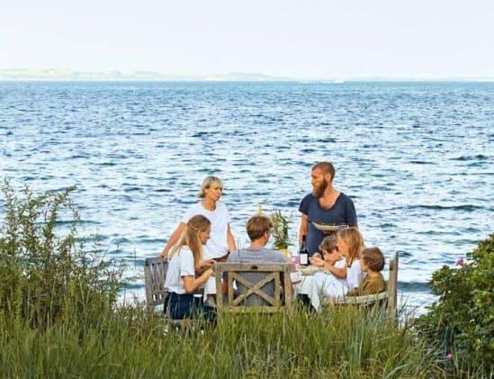 Chefkok Mikkel Karstad en familie