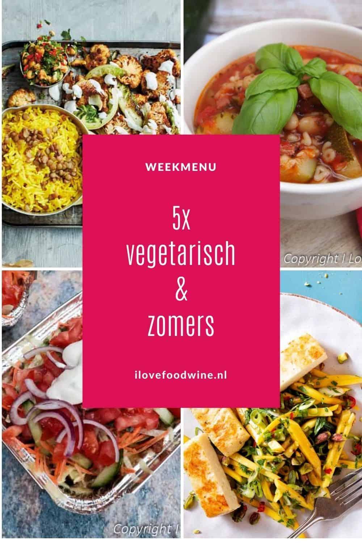 Zomers vegetarisch betekent lichte maaltijden met lekker veel groenten. In dit weekmenu vind je 5 onwijs lekkere zonnige recepten die helemaal passen als de temperaturen wat oplopen. Van zomerse minestrone en gezonde kapsalon tot pasta puttanesca en tandoorie bloemkool met linzenrijst. Alles eenvoudig te maken en snel op tafel. . Recepten nodig? Ga naar de website.  #zomers #wijn-spijscombinatie #simpel #vegetarisch