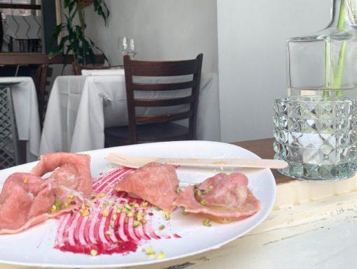 Tortellini van restaurant Pianeta Terra
