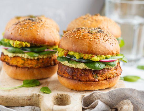 Californische hamburger, vegetarisch