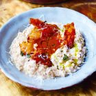 Kalkoen recept Jamie Oliver risotto met prei uit zijn Kerst kookboek